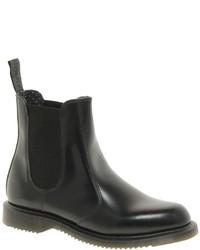 Dr. Martens Dr Martens Kensington Flora Black Chelsea Boots