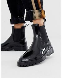 ASOS DESIGN Gentle Chunky Chelsea Rain Boots