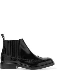 Joseph Glossed Leather Chelsea Boots Black