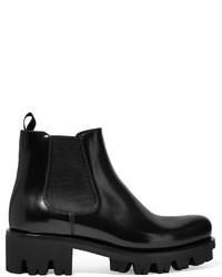 Prada Leather Chelsea Boots Black