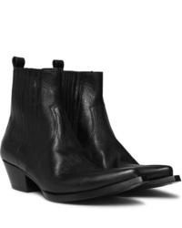 Saint Laurent Lucas Leather Chelsea Boots