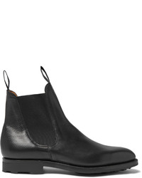 Newmarket grained leather chelsea boots medium 806246