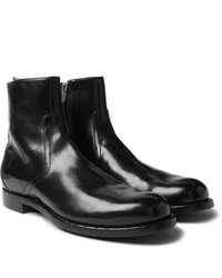 Officine Creative Polished Leather Chelsea Boots