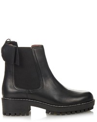 RED Valentino Redvalentino Beatle Bow Leather Chelsea Boots