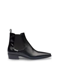 Prada Square Toe Chelsea Boots