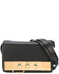 Anthony Vaccarello Gold Tone Detail Clutch