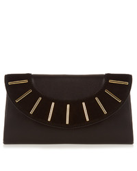Diane von Furstenberg Bar Stud Leather And Suede Envelope Clutch