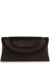 Calf hair and leather envelope clutch medium 1194292