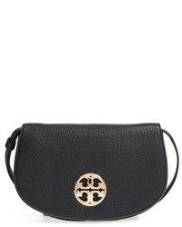 Tory Burch Jamie Convertible Leather Clutch Black