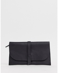 ASOS DESIGN Leather Slot Through Foldover Purse