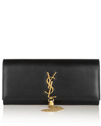 Saint Laurent Monogramme Leather Clutch Black