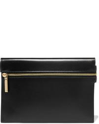 Victoria Beckham Small Leather Clutch Black