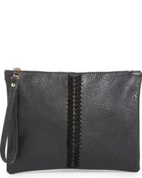 Leith Stitch Detail Faux Leather Pouch