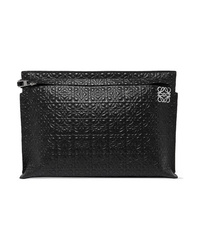 Loewe T Embossed Leather Pouch