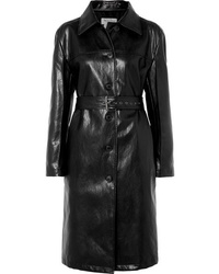 We11done Belted Faux Leather Coat
