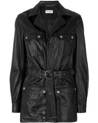 Belted leather coat medium 4352639