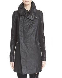 Rick Owens Cyclops Leather Trench Biker Jacket