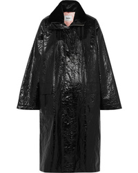 Stand Maia Crinkled Glossed Faux Leather Coat