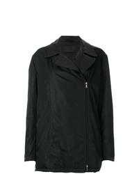 Prada Vintage Off Centre Zipped Coat