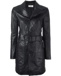 Saint Laurent 70s Short Leather Coat