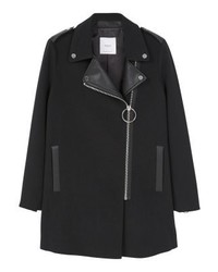 Mango Short Coat Black