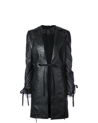 Ann Demeulemeester Straight Fit Leather Coat