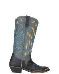 Golden Goose Deluxe Brand Lizard Embossed Cowboy Boots