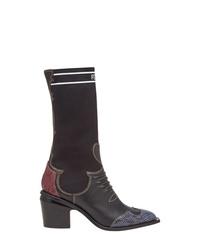 Fendi Patch Work Cowboy Boots