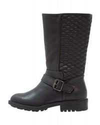 Dorothy Perkins Tiffany Cowboybiker Boots Black