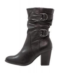 Dorothy Perkins Wide Fit Katherine Cowboybiker Boots Black