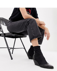 ASOS DESIGN Wide Fit Raglan Western Boots