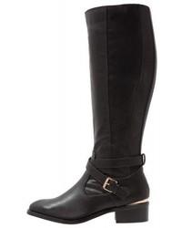 Dorothy Perkins Wide Fit Wrist Cowboybiker Boots Black