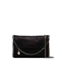 Stella McCartney Black Falabella Mini Shaggy Deer Shoulder Bag