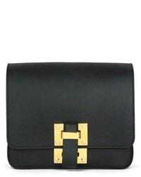 Sophie Hulme Box Flap Leather Crossbody Bag