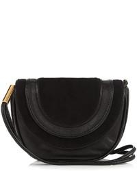 Diane von Furstenberg Mini Bullseye Leather Messenger Cross Body Bag