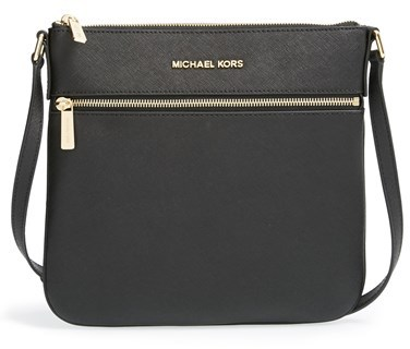 17a8f7f2135a ... best price michael michael kors michl michl kors bedford saffiano  leather flat crossbody bag 2e4fa 34e7b