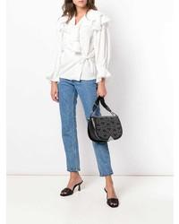 Emporio Armani Micro Studs Shoulder Bag