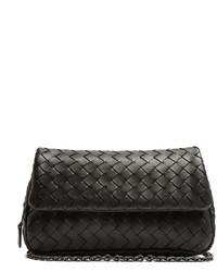 Bottega Veneta Mini Intrecciato Leather Cross Body Bag