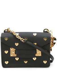 Sophie Hulme Nano Black Hearts Milner Crossbody Bag