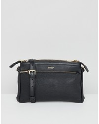 Paul Costelloe Real Leather Double Pocket Zip Cross Body Bag