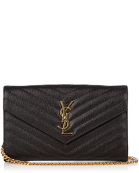Saint Laurent Monogram Leather Cross Body Bag
