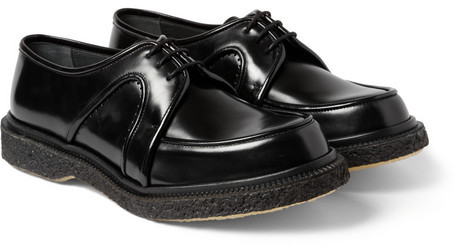 £541, Adieu Type 4 Crepe Sole Panelled Leather Derby Shoes