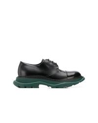 Alexander McQueen Contrast Sole Derby Shoes