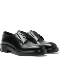 Valentino Garavani Logo Print Leather Derby Shoes