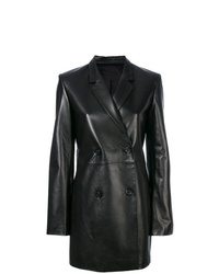 Helmut Lang Long Line Leather Blazer