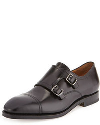 Salvatore Ferragamo Duran Tramezza Cap Toe Double Monk