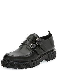 Valentino Punky Chic Double Monk Shoe Black