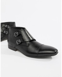 Truffle Collection Two Monk Boot In Black