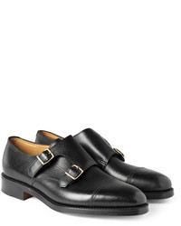 William leather monk strap shoes medium 4513