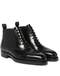 George Cleverley William Cap Toe Horween Shell Cordovan Leather Boots